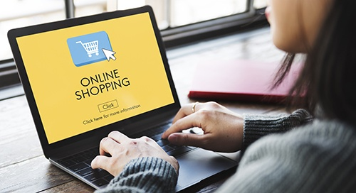 Online Shopping E-business Digital Technology Concept