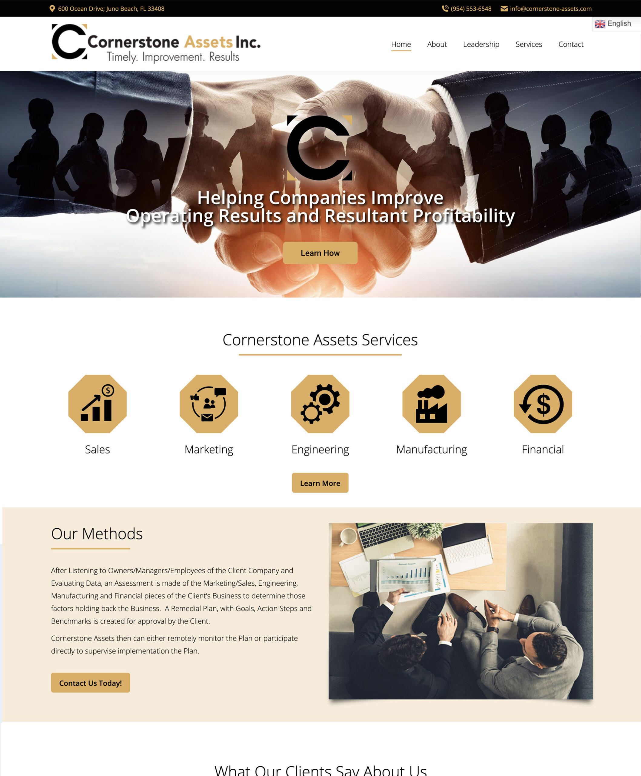 Cornerstone-Assets-Home Page